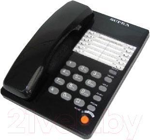 Проводной телефон Supra STL-331 (черный) - общий вид
