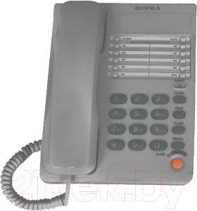 Проводной телефон Supra STL-331 (серый) - общий вид