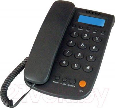 Проводной телефон Supra STL-420 (серый)