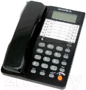 Проводной телефон Supra STL-431 (чёрный) - общий вид