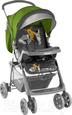 Детская прогулочная коляска Lorelli Star (Green-Gray Safari) - общий вид