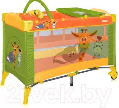 Кровать-манеж Lorelli Arena 2+ Green Safari (10080131531) - общий вид