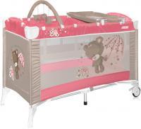 Кровать-манеж Lorelli Arena 2+ (Pink Bear) -