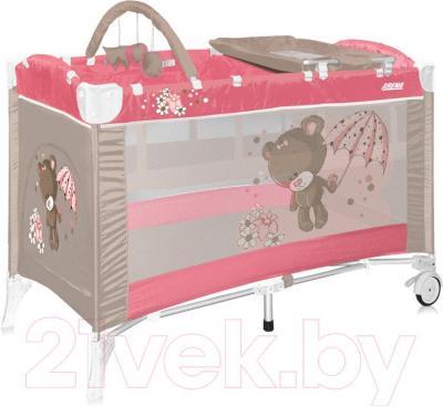 Кровать-манеж Lorelli Arena 2+ (Pink Bear) - общий вид