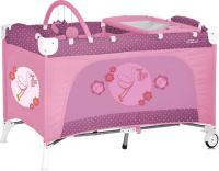 Кровать-манеж Lorelli Travel Kid 2 Rose Stork (10080221536) -