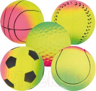 Набор игрушек для животных Trixie Neon Balls 3458 - общий вид