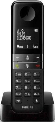 Беспроводной телефон Philips D4501B/51 - вид спереди