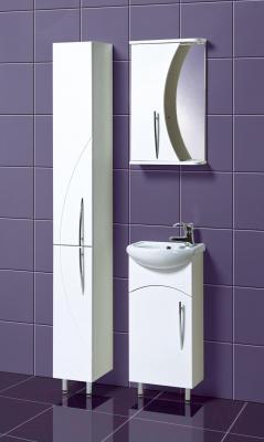Шкаф с зеркалом для ванной Акваль Палермо 40 (ПАЛЕРМО.04.40.00.L)