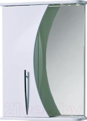Шкаф с зеркалом для ванной Акваль Палермо 50 (ПАЛЕРМО.04.50.00.L)