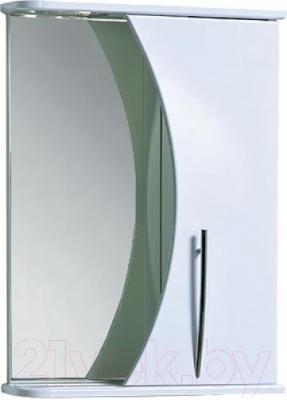Шкаф с зеркалом для ванной Акваль Палермо 50 (ПАЛЕРМО.04.50.00.R)