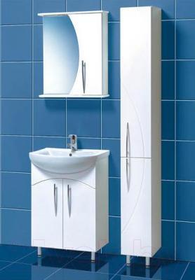 Шкаф с зеркалом для ванной Акваль Палермо 60 (ПАЛЕРМО.04.60.00.R)
