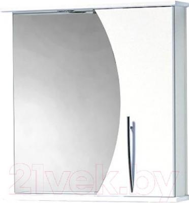 Шкаф с зеркалом для ванной Акваль Палермо 70 (ПАЛЕРМО.04.70.00.R)