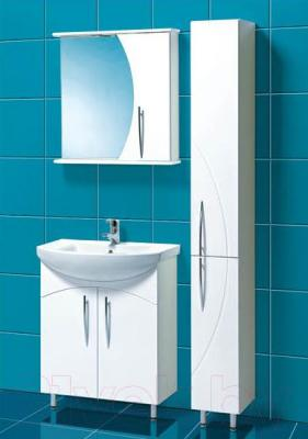 Шкаф с зеркалом для ванной Акваль Палермо 70 (ПАЛЕРМО.04.70.00.R) - в интерьере