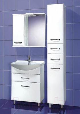 Шкаф с зеркалом для ванной Акваль Виола 70 (AV.04.70.10.L) - в интерьере