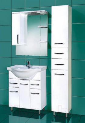 Шкаф с зеркалом для ванной Акваль Виола 75 (AV.04.75.10.L)