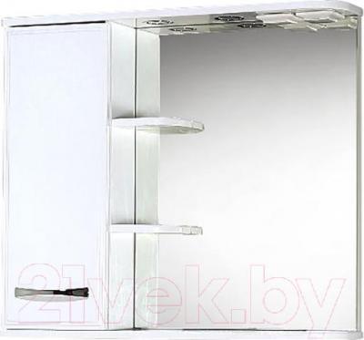 Шкаф с зеркалом для ванной Акваль Виола 80 (AV.04.80.10.L)