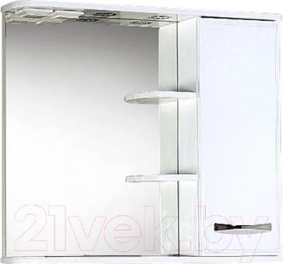 Шкаф с зеркалом для ванной Акваль Виола 80 (AV.04.80.10.R)