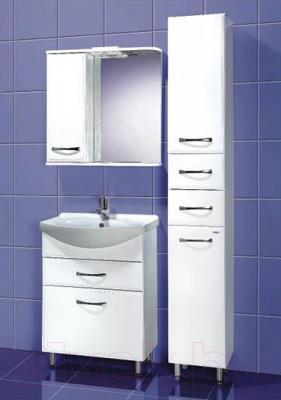 Шкаф-пенал для ванной Акваль Виола (AV.03.00.10.L) - в интерьере