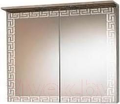 Шкаф с зеркалом для ванной Акваль Паола 80 (EP.04.80.00.N) - общий вид