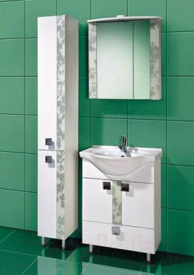 Шкаф с зеркалом для ванной Акваль Лаура 65 (ЛАУРА.04.65.00.L)