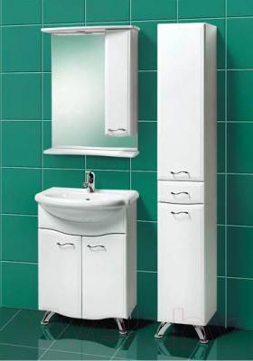 Шкаф с зеркалом для ванной Акваль Грант 60 (В1.1.38.1.9.2) - в интерьере