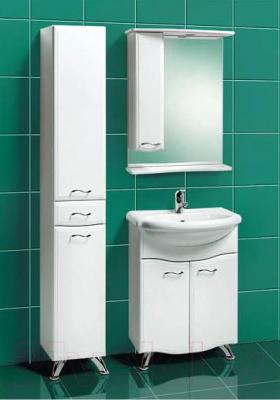 Шкаф с зеркалом для ванной Акваль Грант 60 (В1.1.38.1.9.1) - в интерьере