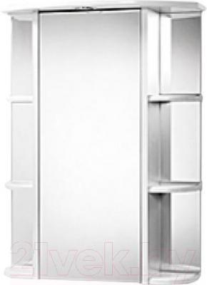 Шкаф с зеркалом для ванной Акваль Порто 75 (В2.1.39.1.9.1) - общий вид