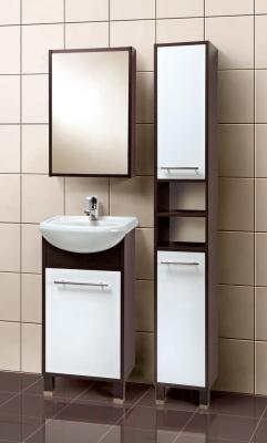 Шкаф с зеркалом для ванной Акваль Карина 47 (ЕК.04.47.00.L) - в интерьере