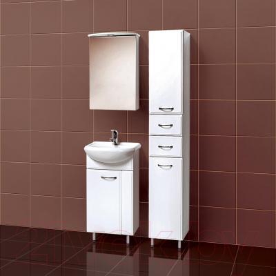 Шкаф с зеркалом для ванной Акваль Эмили 47 (AL.04.47.02.L) - в интерьере