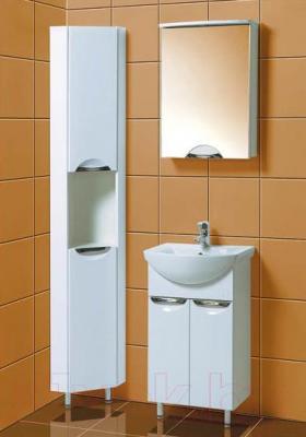 Шкаф-пенал для ванной Акваль Аврора (EA.03.00.70.L) - в интерьере комплект Аврора 50