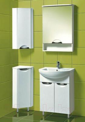 Шкаф-полупенал для ванной Акваль Аврора (EA.02.00.70.L) - в интерьере
