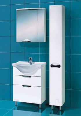Шкаф-пенал для ванной Акваль Аврора (ЕА.03.00.00.L) - в интерьере