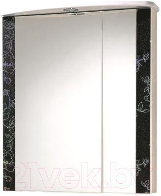 Шкаф с зеркалом для ванной Акваль Токио 68 (ТОКИО.04.68.02.L) - общий вид