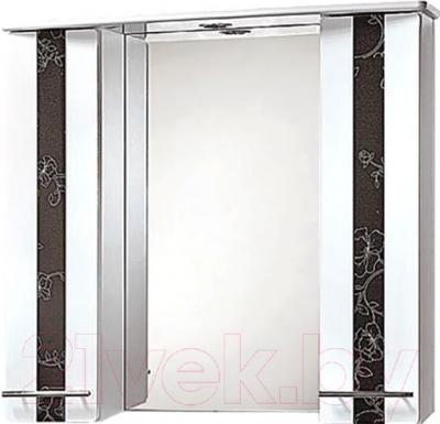 Шкаф с зеркалом для ванной Акваль Токио 85 (ТОКИО.04.86.02.N)