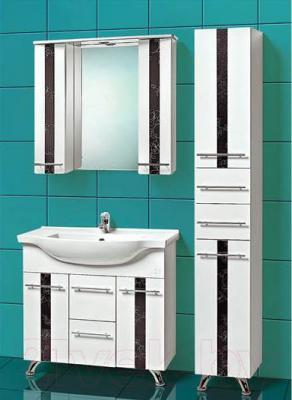 Шкаф с зеркалом для ванной Акваль Токио 85 (ТОКИО.04.86.02.N) - в интерьере