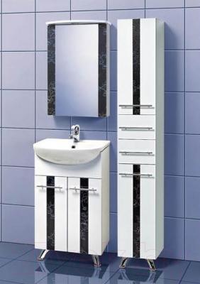 Шкаф-пенал для ванной Акваль Токио (ТОКИО.03.00.02.R) - в интерьере комплект Токио 50