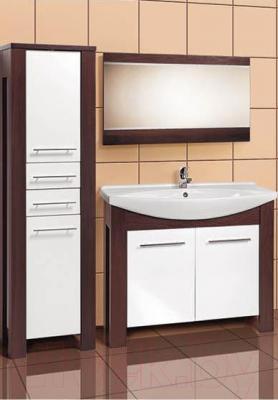 Шкаф-пенал для ванной Акваль Латте (B2.5.23.2.2.1) - в интерьере