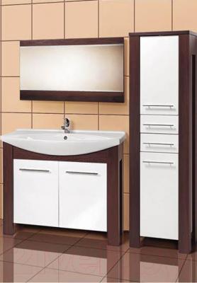 Шкаф-пенал для ванной Акваль Латте (B2.5.23.2.2.2) - в интерьере