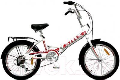 Велосипед Stels Pilot 450 (20, бело-красный)