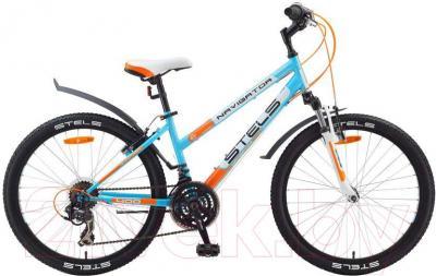 Велосипед Stels Navigator 400 V (24, оранжево-бело-голубой) - общий вид