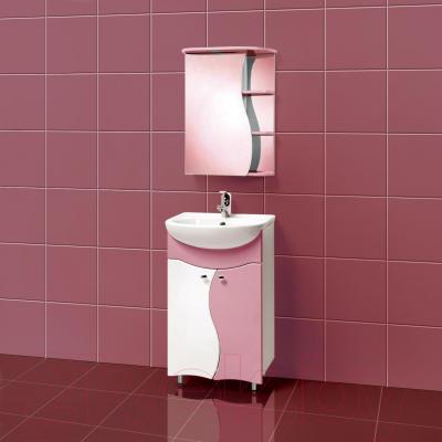 Шкаф с зеркалом для ванной Акваль Милана 50 (AM.04.50.01.L) - в интерьере