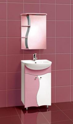 Шкаф с зеркалом для ванной Акваль Милана 50 (АМ.04.50.01.R) - в интерьере