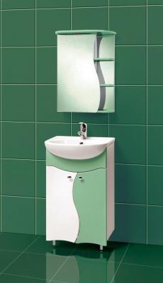 Шкаф с зеркалом для ванной Акваль Милана 50 (AM.04.50.02.L) - в интерьере
