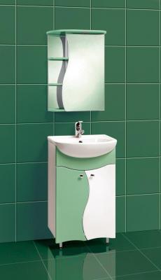 Шкаф с зеркалом для ванной Акваль Милана 50 (АМ.04.50.02.R) - в интерьере