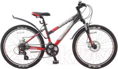 Велосипед Stels Navigator 470 MD (24,темно-серый, красный, серебро) - общий вид