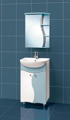 Шкаф с зеркалом для ванной Акваль Милана 50 (АМ.04.50.03.L) - в интерьере