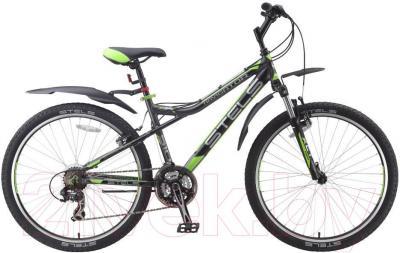 Велосипед Stels Navigator 510 V (26, темно-серый/черный/салатовый) - общий вид