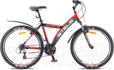 Велосипед Stels Navigator 570 V (26, черный, серый, красный)