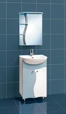 Шкаф с зеркалом для ванной Акваль Милана 50 (AM.04.50.03.R) - в интерьере