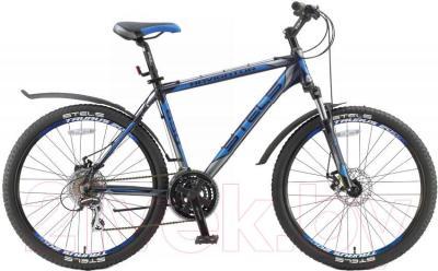 Велосипед Stels Navigator 650 MD (21.5, черный, серебро, синий) - общий вид